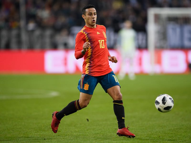 Thiago Alcantara of Spain will be the new king of the midfield heading into the UEFA Nations League A Group 4 (Photo by Matthias Hangst/Bongarts/Getty Images)