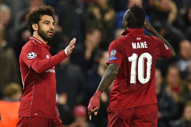 Salah and Mane - Liverpool v Crvena Zvezda