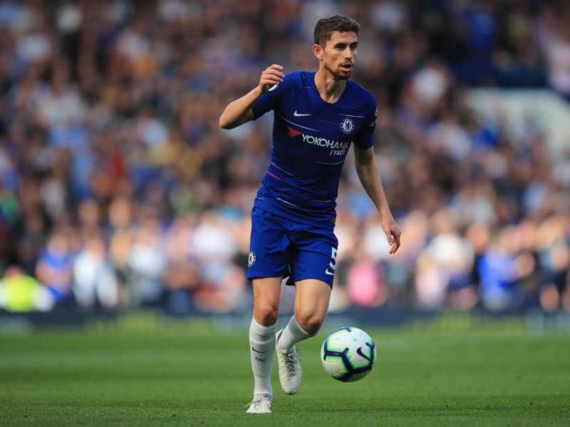 Jorginho of Chelsea during the Premier League match between Chelsea FC and Cardiff City at Stamford Bridge on September 15, 2018 in London, United Kingdom. (Photo by Marc Atkins/Getty Images)