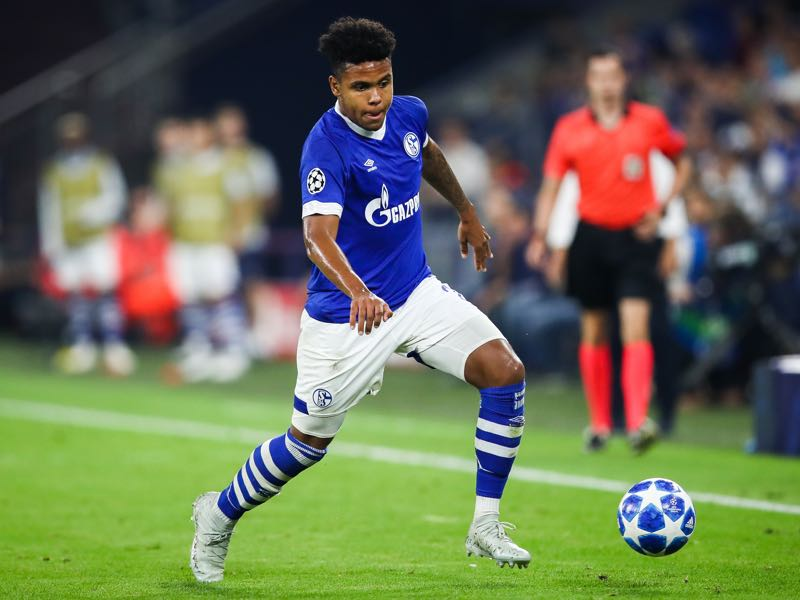 Weston McKennie #2 of FC Schalke 04 controls the ball during the Group D match of the UEFA Champions League between FC Schalke 04 and FC Porto at Veltins-Arena on September 18, 2018 in Gelsenkirchen, Germany. (Photo by Maja Hitij/Bongarts/Getty Images)