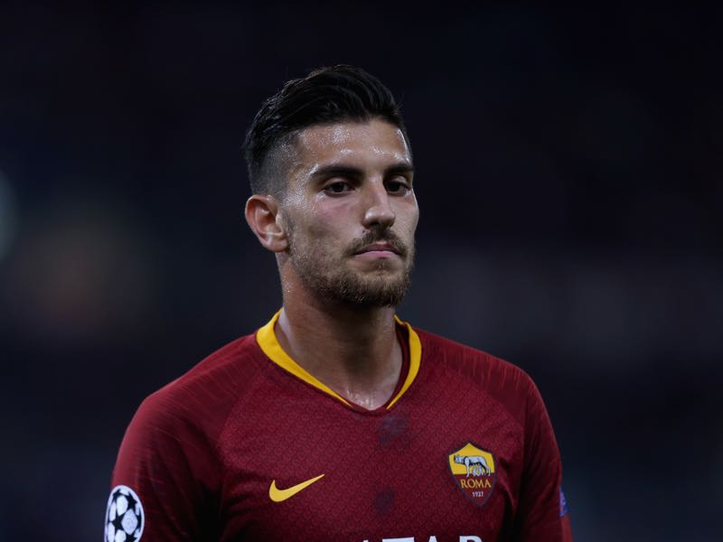 Lorenzo Pellegrini of AS Roma looks on during the Group G match of the UEFA Champions League between AS Roma and Viktoria Plzen at Stadio Olimpico on October 2, 2018 in Rome, Italy. (Photo by Paolo Bruno/Getty Images)