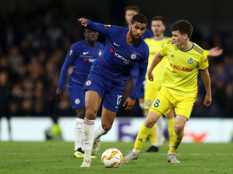 Ruben Loftus-Cheek of Chelsea in action during the UEFA Europa League Group L match between Chelsea and FC BATE Borisov at Stamford Bridge on October 25, 2018 in London, United Kingdom. (Photo by Bryn Lennon/Getty Images)