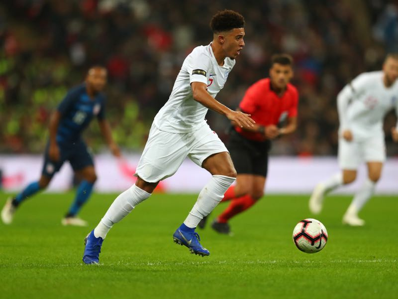 Jadon Sancho of England during the International Friendly match between England and United States at Wembley Stadium on November 15, 2018 in London, United Kingdom. (Photo by Catherine Ivill/Getty Images)