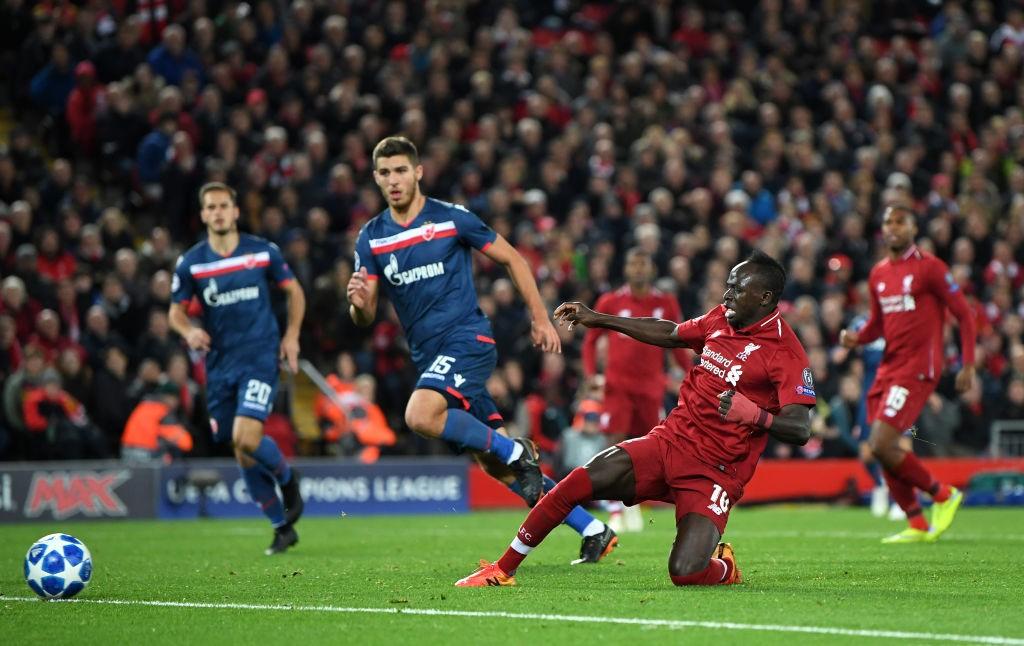 Sadio mane - Crvena Zvezda vs Liverpool