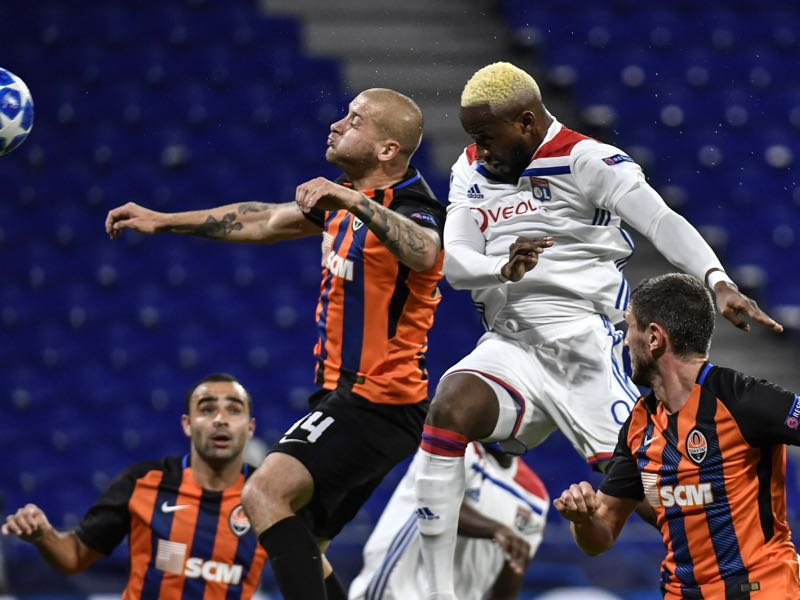 Shakhtar have dropped to the Europa League after losing to Olympique Lyon on match day 6 (Photo by JEFF PACHOUD / AFP)