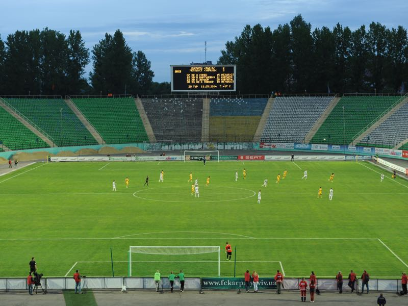 Karpaty vs Dynamo Kyiv will take place at the Stadion Ukraina in Lviv (Photo by Yuriy Dyachyshyn/EuroFootball/Getty Images)