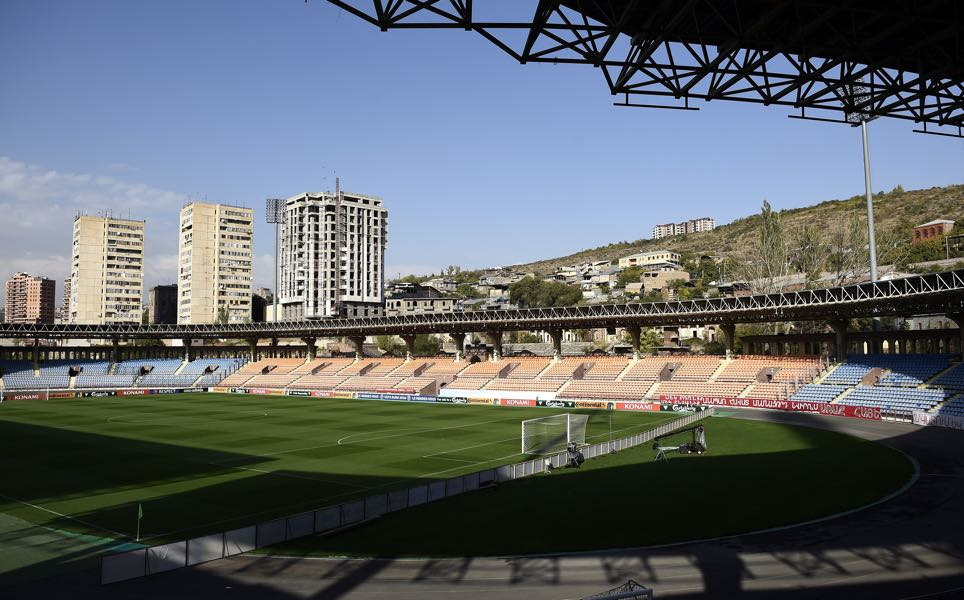 A general view shows the Vazgen Sargsyan Republican Stadium in Yerevan on October 13, 2014, on the eve of Armenia's friendly football match against France. (FRANCK FIFE/AFP/Getty Images)
