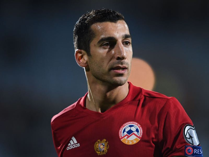 Henrikh Mkhitaryan has a good relationship with new national team coach Armen Gyulbudaghyants, which will be key following the Armenian revolution (KIRILL KUDRYAVTSEV/AFP/Getty Images)