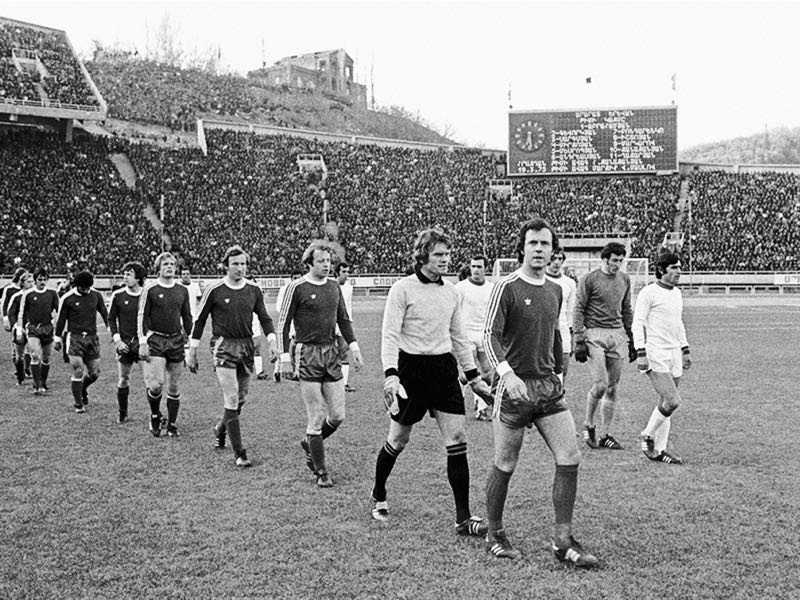 Franz Beckenbauer ahead of the European Cup game between Ararat and Bayern (Photo: Zanazanyan's personal archive)