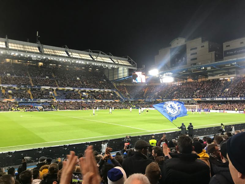 Chelsea Celebrate Pedro's Goal, Their First of the Evening