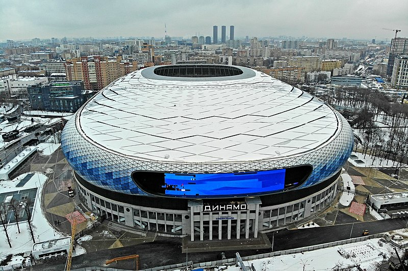 The new VTB Arena was build on top of the old Dinamo Stadium (Mos.Ru)