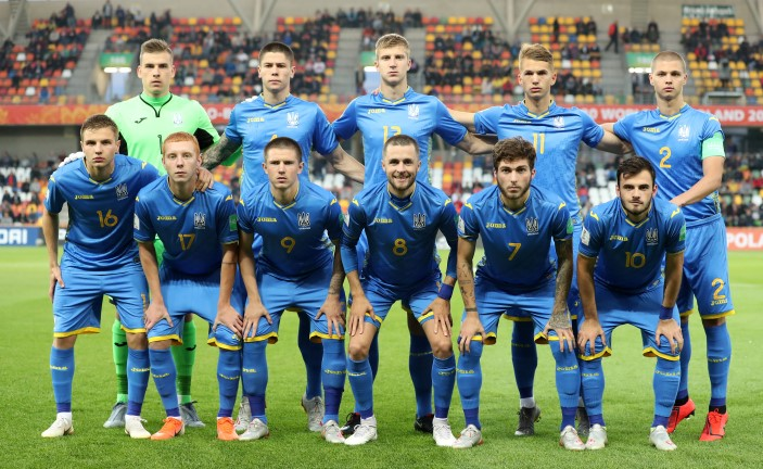 Ukraine vs USA - Ukraine's national team ahead of the match against the United States (FIFA via Getty)