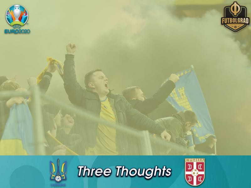 Ukraine run riot against Serbia at the Arena Lviv
