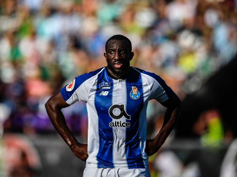 Porto's Malian forward Moussa Marega looks on during Portugal's Cup final football match between Sporting CP and FC Porto at Jamor stadium in Oeiras, outskirts of Lisbon on May 25, 2019. (Photo by PATRICIA DE MELO MOREIRA / AFP)