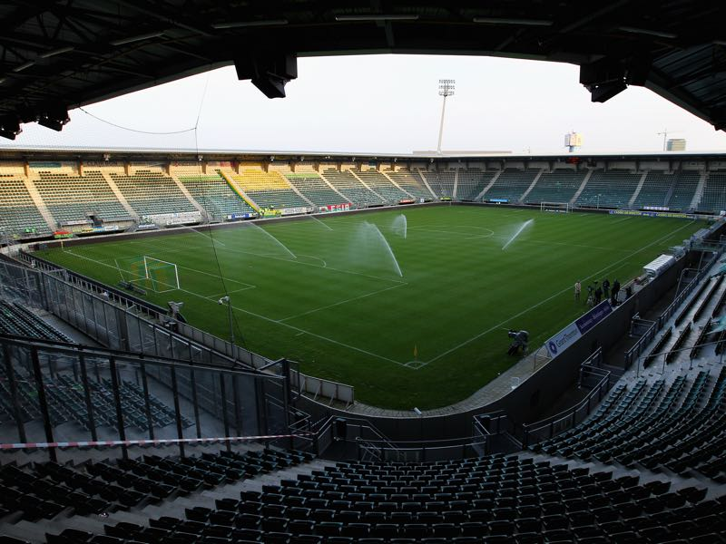 AZ Alkmaar vs Mariupol will take place at the Cars Jeans Stadion in Den Haag (Photo by Dean Mouhtaropoulos/Getty Images)