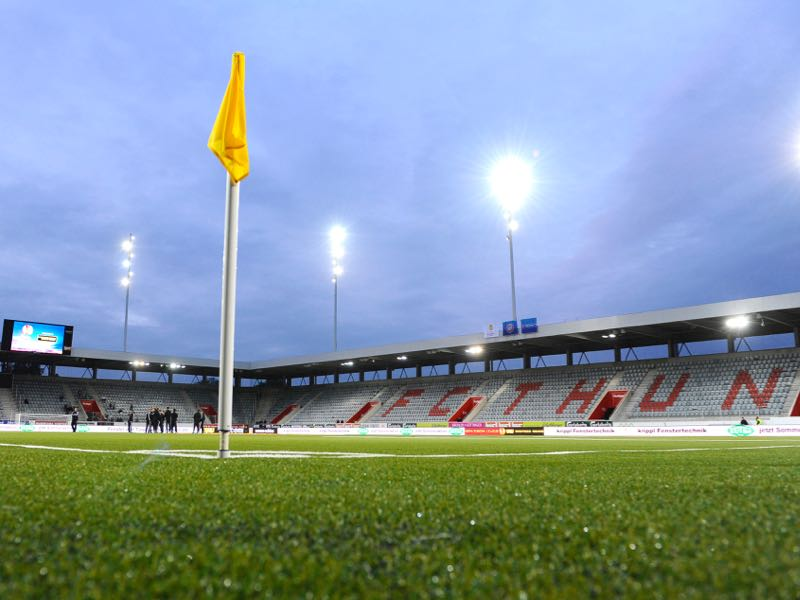 FC Thun vs Spartak Moscow will take place at the Stockhorn Arena (Photo by Alain Grosclaude/EuroFootball/Getty Images)
