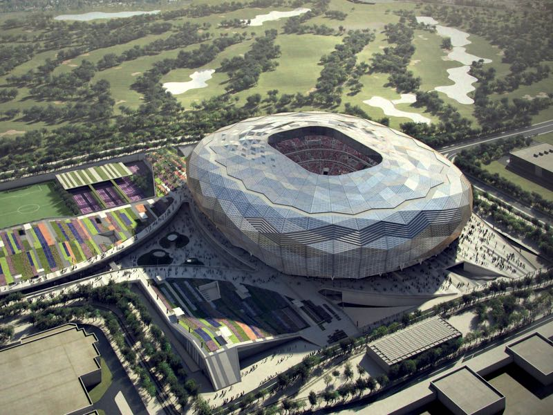 In this undated computer-generated artists impression provided by 2022 Supreme Committee for Delivery and Legacy, the Qatar Foundation Stadium Stadium, a Qatar 2022 World Cup venue to be built in Doha, Qatar. (Illustration provided by 2022 Supreme Committee for Delivery and Legacy via Getty Images)