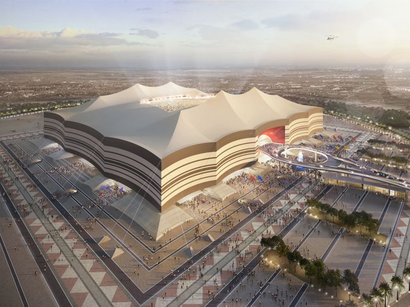 In this undated computer-generated artists impression provided by 2022 Supreme Committee for Delivery and Legacy, the Al Bayt Stadium, a Qatar 2022 World Cup venue to be buit in Al Khor, Qatar. (Illustration provided by 2022 Supreme Committee for Delivery and Legacy via Getty Images)