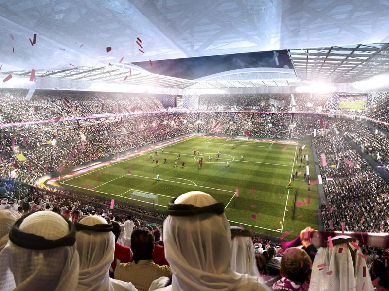 In this undated computer-generated artists impression provided by 2022 Supreme Committee for Delivery and Legacy, the Al Rayyan Stadium, a Qatar 2022 World Cup venue to be built in Al-Rayyan, Qatar. (Illustration provided by 2022 Supreme Committee for Delivery and Legacy via Getty Images)